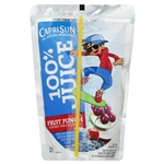 Capri Sun Beverage 100 Percent Juice Fruit Punch - 6 oz.