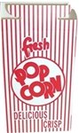 Red and White Color Popcorn Box Hook and Eye Reclosable Lid