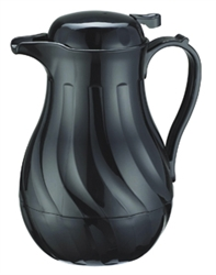 Carafe Black Swirl Push Button - 42 Oz.
