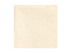 Beverage Ecru Napkin 2 Ply - 9.5 in. x 9.5 in.