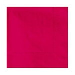 Beverage 2 Ply Red Napkin - 9.5 in. x 9.5 in.