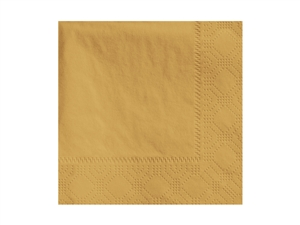Beverage Napkin Glittering Gold 2 Ply - 9.5 in. x 9.5 in.