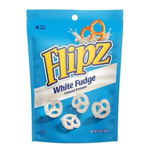 Flipz White Fudge Covered Pretzel - 5 oz.