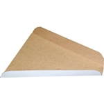 Paper Board White Wedge Pizza Slice Box - 6.5 in. x 7 in. x 1.31 in.