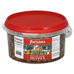 Partanna Pitted Mediterranean Mix Seasoned Olives - 4.4 lb.