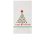 Holiday Dots Recycled Dinner Napkin - 15 in. x 17 in.