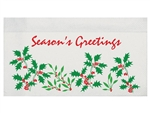 Holiday Holly Dispenser Napkin - 12 in. x 13 in.