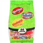 Family Faves 80 Piece Starburst and Skittles Lifesaver