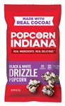 Snack Popcorn Black and White Chocolate Drizzle - 6 Oz.