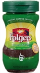 Folgers Decaffeinated Instant Coffee - 3 oz.