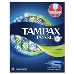 Tampax Pearl Plastic Super Unscented