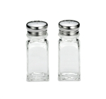 Stainless Steel Top Salt and Pepper Shaker - 2 oz.