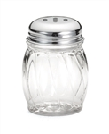 Chrome Slotted Top Polycarbonate Shaker - 6 oz.