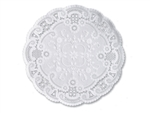 French Lace Doily Paper White Round - 12 in.