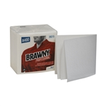 Brawny Professional A400 Disposable Cleaning Towel 1/4 Fold White