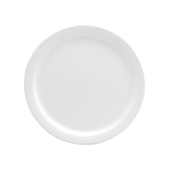 Buffalo Cream White Plate Narrow Rim - 7.5 in.