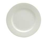 Buffalo Cream White Plate Rolled Edge - 9 in.