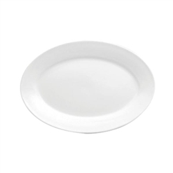 Buffalo Bright White Rolled Edge Platter - 13.25 in.