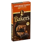 Bakers Unsweetened 100% Cacao Baking Chocolate - 4 oz. - 12 per case
