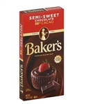 Baker Semi Sweet Chocolate - 4 Oz.