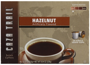 Caza Trail Single Serve Hazelnut Coffee - 8.04 oz.