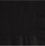 2 Ply Beverage Black Napkins - 10 in. x 10 in.