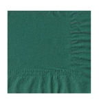 2 Ply Beverage Hunter Green Napkins - 10 in. x 10 in.