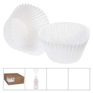 Baking Cups White - 6 in. x 2.25 in. x 1.88 in.