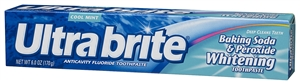 Ultra Brite Baking Soda and Peroxide Toothpaste - 6 Oz.