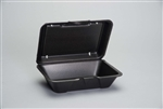 Deep All Purpose Foam Hinged Container Large Black