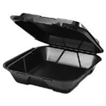Snap-It Foam Large One Compartment Container Black