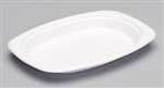 Compostable Medium Oval Platter Natural White - 6.5 in. x 9 in.
