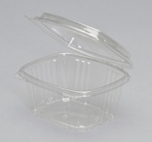 16 Oz. Hinged Deli High Dome Clear - 5.38 in. x 4.5 in. x 3 in.