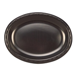 Large Laminated Black Oval Platter - 8.5 in. x 11.5 in.