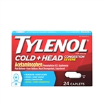 Tylenol Cold Severe Caplets 48 Boxes of 24 Tablets