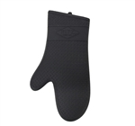 Black 100 Percent Silicone Oven Mitt - 17 in.