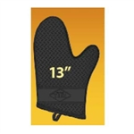Black 100 Percent Silicone Oven Mitt - 13 in.