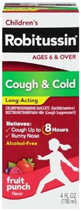 Childrens Robitussin Cough and Cold Syrup - 4 fl.oz.