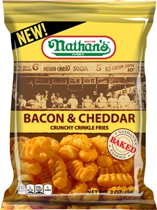 Nathans Bacon and Cheddar Crinkle Fries - 2 oz.