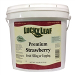 Lucky Leaf Clean Label Premium Strawberry Fruit Filling or Topping - 18 Lb.