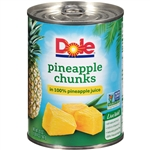 Pineapple Chunks In Juice - 20 Oz.
