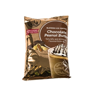 Big Train Chocolate Peanut Butter Blended Ice Coffee Powdered Drink Mix - 3.5 Pound