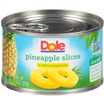 Pineapple Sliced in Juice - 8 Oz.