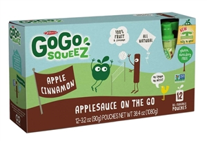 Gogo Squeez Apple Cinnamon 12 Pouch