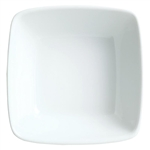Chefs Selection Aluma White Square Bowl - 7 Oz.