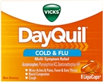 DayQuil Cold and Flu 24 Boxes of 8 Tablets