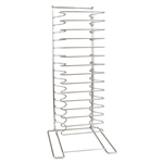 Chrome Plated Steel Rod Construction 15 Shelves Holds Pans Pizza Screen Rack