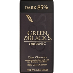 Green and Blacks Organic 85 Percent Dark Chocolate Bar - 3.5 oz.