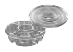 Clear 4 Compartment Platter - 13 in.