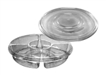 Clear 4 Compartment PET Platter - 13 in.
